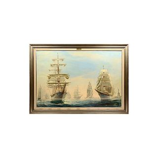 Kipp Soldwedel Operation Sail New York Harbour Oil Painting