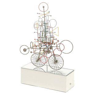 Joseph Burlini (American, b. 1937) Contemporary Kinetic Metal Sculpture, 1972