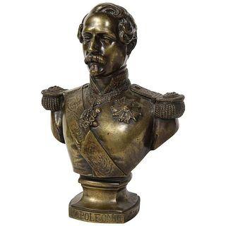 Exceptional Quality Bronze Bust of Emperor Napoleon III, circa 1870C. 1870