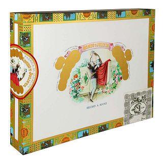 Daniel Douke (American, b. 1943) Romeo & Juliet Cigar Box Acrylic Painting