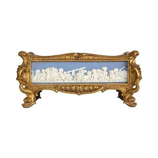 Napoleon III Giltwood and Jasperware Wedgewood Centerpiece Jardiniere