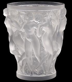 Lalique Bacchantes French Art Glass Vase