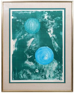 Barbara Hepworth 'Sun and Marble' Lithograph