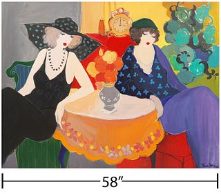 Itzchak Tarkay 'Passing Time' Oil Painting