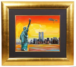 Peter Max 'Statue of Liberty and Twin Towers'