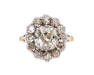 Antique Victorian Diamond Halo Ring