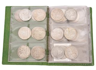 35 Assorted Silver Cuban Coins in Coin Case