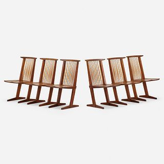 George Nakashima, Conoid chairs, set of six
