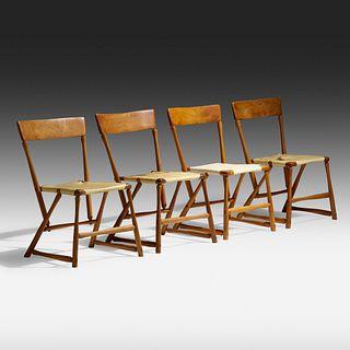 Wharton Esherick, Hammer Handle chairs, set of four
