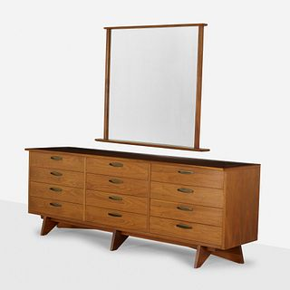 George Nakashima, Chest, model 212-L and mirror, model 270-W
