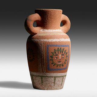 Pablo Picasso, Vase au Decor Pastel