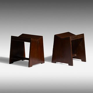 Pierre Jeanneret, Sewing stools from Chandigarh, pair