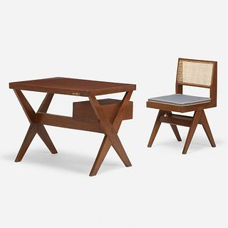 Pierre Jeanneret, Desk and chair from Chandigarh