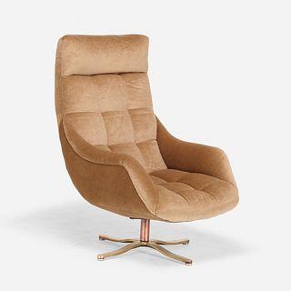 Vladimir Kagan, High Back Contour swivel chair