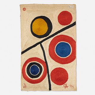 After Alexander Calder, Floating Circles tapestry