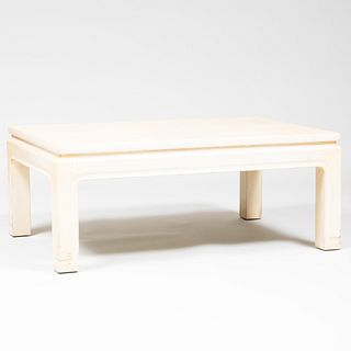 Chinese Style Cream Lacquer Low Table