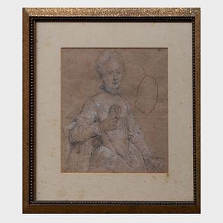 French School: Portrait Sketch of a Lady