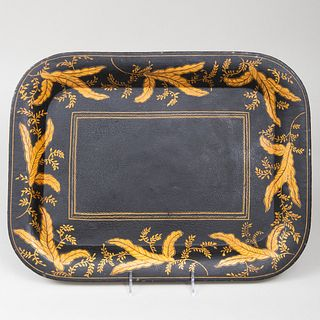 Small English Painted Tôle Tray