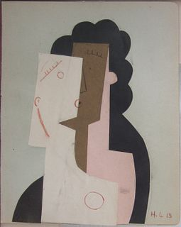 Henri Laurens  Tete  Collage on paper