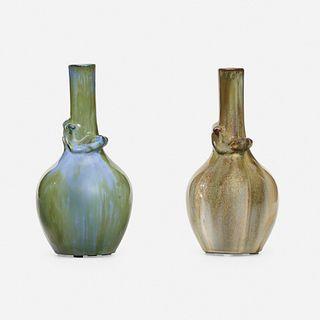Fulper Pottery, Salamander vases, pair