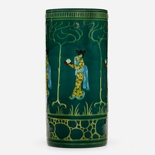 Weller Pottery, Jap Birdimal umbrella stand