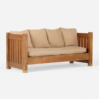Gustav Stickley, Knock-down settle, model 210