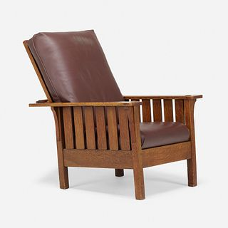 L. & J.G. Stickley, Flat-arm Morris chair, model 471
