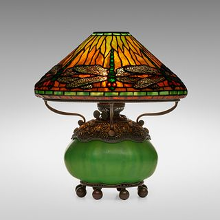 Tiffany Studios, Dragonfly table lamp