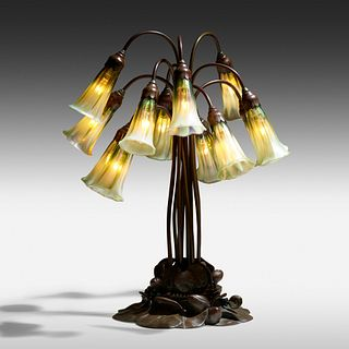 Tiffany Studios, Twelve-light Lily table lamp