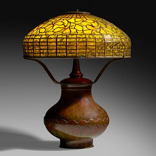 Tiffany Studios, Dichroic Vine Ornament table lamp