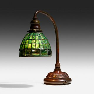 Tiffany Studios, Turtleback tile desk lamp