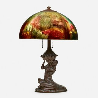 Handel, Rare Aquarium lamp with mermaid base