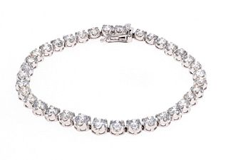 Amazing 10.53ct Diamond Platinum Bracelet w/ AIGL