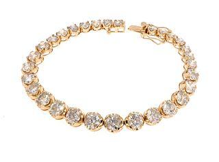 16.56ct Diamond 14K Bracelet w/ AIG $80K Appraisal