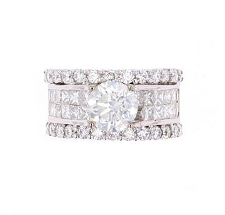 Hana 5.00ct VS1 Diamond 18K Ring -EGL & AIG Papers