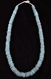 Navajo Discoidal Royston Turquoise Necklace