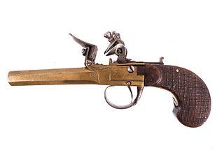 Belgian Brass Flintlock Goffart/ Francois Pistol