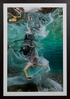 "Michel Varisco (1967-, Louisiana), ""Trôuleuse,"" 2019, archival pigment print, signed en verso of print, presented in a white matte with black contempo"