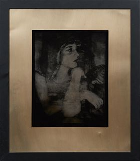 """Josephine Sacabo (1944-, New Orleans/Mexico), """"Juana and the Falcon,"""" 2018, AP original tintype from """"Structures of Reverie Series,"""" signed and titled"""