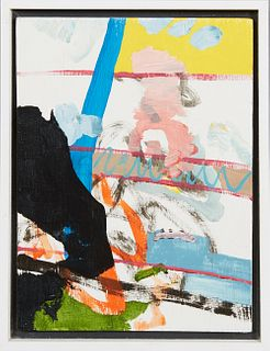 """Aaron Collier (1979-, New Orleans), """"Why This Waste of Perfume? (No. 4),"""" 2009, acrylic on panel, signed, dated and titled en verso, H.- 7 3/4 in., W."""