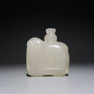 A Hetian Jade Elephant Ornament