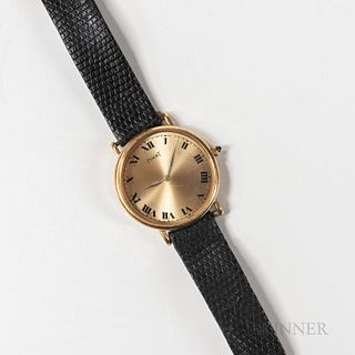 """Piaget 18kt Gold """"Altiplano"""" Reference 9025 Wristwatch"""