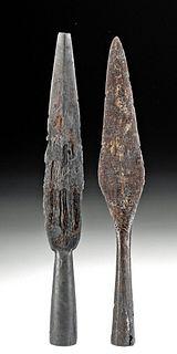 9th C. Viking Iron Spear Heads (2)