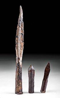 9th C. Medieval European Iron Spear Iron Crossbow Bolts