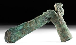 Luristan Copper Axe Head w/ Abstract Zoomorph