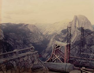 Richard Misrach (American, b. 1949) Set and Scaffolding for Star Trek V, Glacier Point, 1988