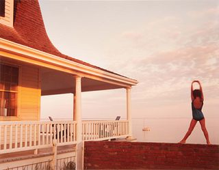 Joel Meyerowitz (American, b. 1938) Bay/Sky/Porch (complete with burgundy linen clamshell portfolio case with gilt title), 1979