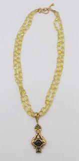Robin Rotenier 18 k Beaded Necklace