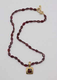 Robin Rotenier Beaded 18k and Rubellite Necklace