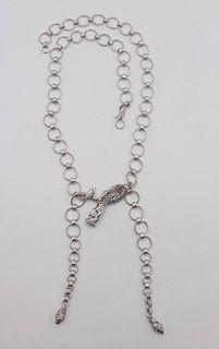 John Hardy Sterling Dragon Lariat Necklace